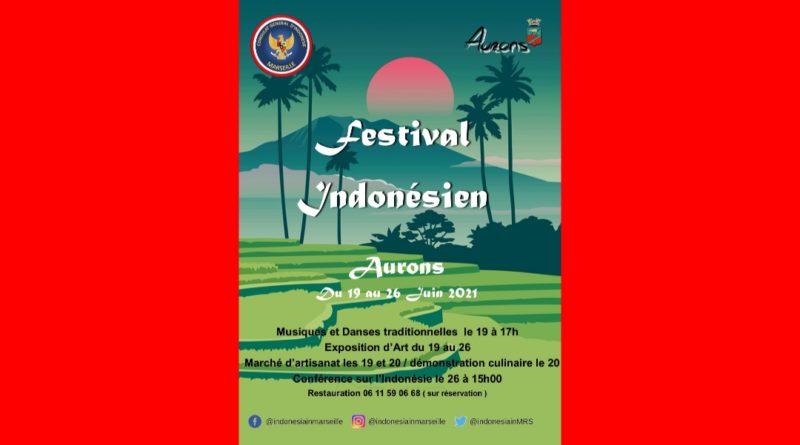 KJRI Marseille Menyelenggarakan Festival Indonesia di kota Aurons pada 19 – 26 Juni 2021